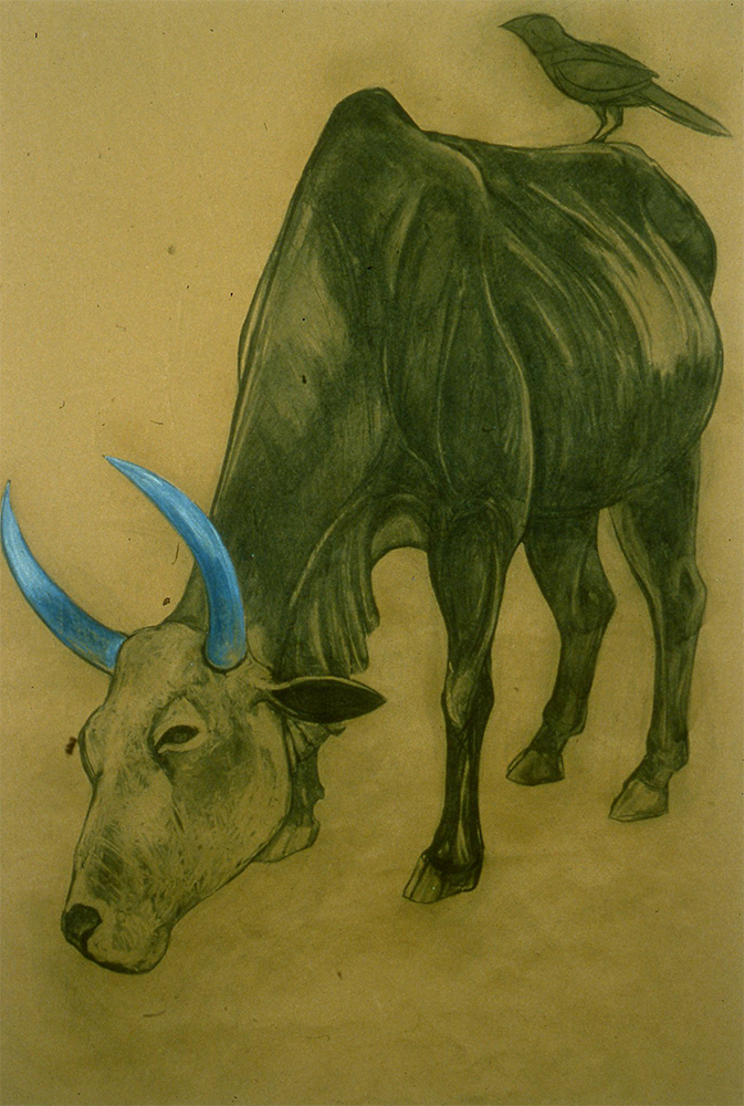 Ceremonial Cow with Crow (1998)